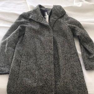 Violeta by mango tweed herringbone coat
